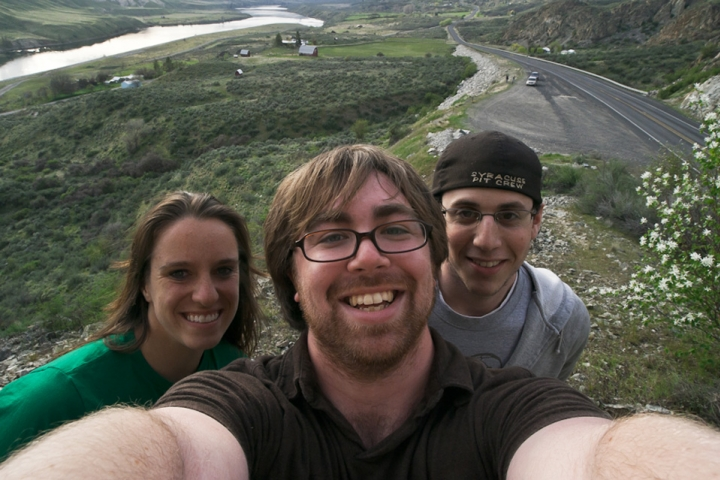 Juliette Lynch, AJ Chavar, and David Miller on the exploratory trip to Wa.