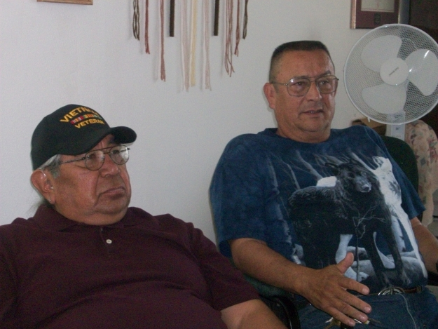 "Vietnam veterans Keith ""Soy"" Redthunder and Jim Smith Photo by: Sherri Williams"