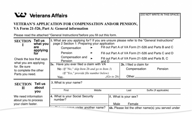Veteran's Application for Compensation and/or Pension