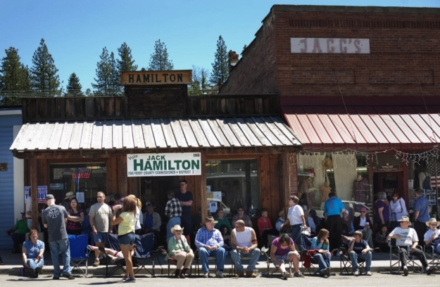 Spectators lined Clark Street for Prospectors' Day Photo by: Kelly West